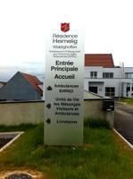 Panneau à l'entrée- Résidence Heimelig
