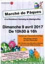 affiche marché de Pâques 2017