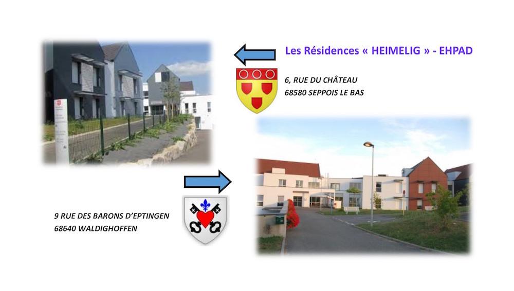 Visuel les résidences Heimelig de Seppois le bas et Waldighoffen
