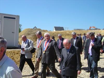 Pose de la première pierre des futures maisons médicalisées-EHPAD de Waldighoffen et Seppois-le-Bas-En route vers les discours