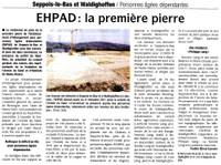 Article DNA du 28 avril 2010 - future maison médicalisée EHPAD