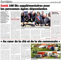 1ère pierre - article L'ALSACE page 27 du 29 avril 2010