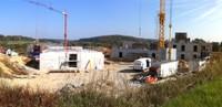 Vue du chantier de l'EHPAD le 11 octobre 2010