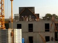 Pose du toit de l'EHPAD le 11 octobre 2010