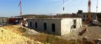 Vue du chantier de l'EHPAD partie haute le 11 octobre 2010