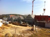 Vue des toits du chantiers de l'EHPAD de Waldighoffen le 11 octobre 2011