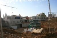 Le chantier de l'EHPAD sous un beau ciel bleu