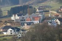 Vue depuis le Sonnenglantz du chantier de l'EHPAD
