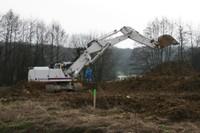 La grande grue blanche du chantier de l'EHPAD à Waldighoffen