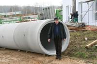 La taille d'une buse du chantier de l'EPHAD de Waldighoffen