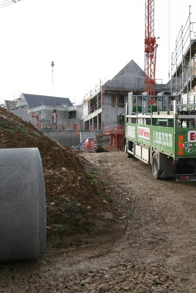 Le chantier de l'EHPAD, le 18 janvier 2011