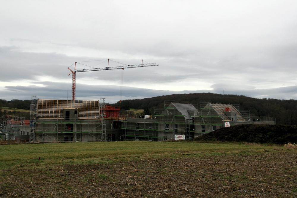 Les travaux de la future maison médicalisée de Waldighoffen, le 13 janvier 2011
