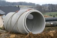 Elément du bassin de rétention du chantier de l'EHPAD, le 24 janvier 2011
