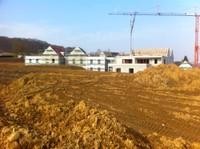 Vue côté est du chantier de l'EHPAD de Waldighoffen, le 3 mars 2011