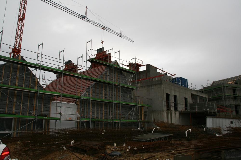 Vue du chantier de l'EHPAD de Waldighoffen, le 13 janvier 2011