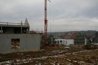 Vue du chantier de l'EHPAD, le 24 janvier 2011