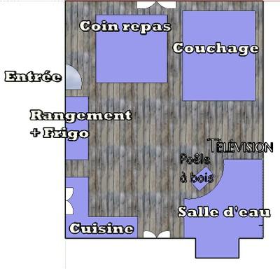 Plan intérieur chalet La Cluserette