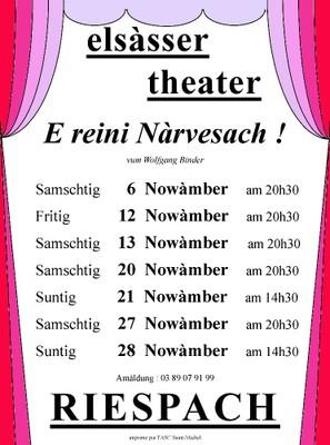 Affiche Théâtre alsacien Riespach