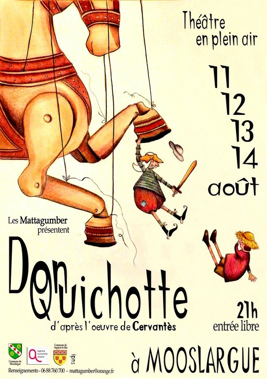 Affiche du spectacle Don Quichotte des Mattagumper de Mooslargue