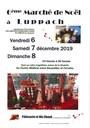 Affiche marché de noël Luppach 2019