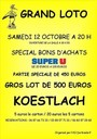 Grand loto de l'AS Durlingsdorf à Koestlach (avec Super U)