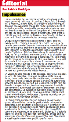 Editorial par Patrick Fluckiger
