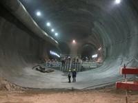 Jonction du tunnel Saint-Gothard