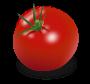 Dessin d'une tomate bien mûre.