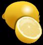 Dessin  d'un citron jaune.