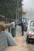 Vue du chantier gabions novembre 2011
